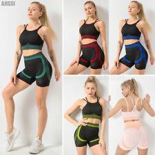 2Pcs Womens Yoga Sport Gym Vest Bra Sports Legging Pants Ladies Outfit Wear Set
