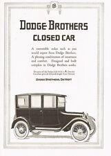 1917 Original Vintage Dodge Brothers Sedan Car Automobile Art Print Ad