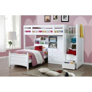 My Design Bunk Bed K/Single W/Stair&Cindy Bed Single&Wardrobe #104034
