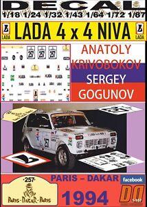 DECAL LADA NIVA – VAZ 2121 ANATOLY KRIVOBOKOV PARIS DAKAR 1994 (09)