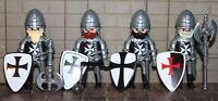 """Playmobil  Schwarzer Malteser """" 4 Burgritter """" Kreuzritter 3666 Jerusalem Ritter"""