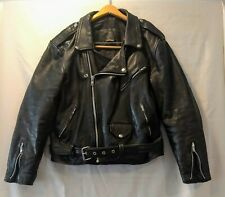 Vintage Leather Motorcycle Jacket Jarvis Bond Size 40/ Lg Mens Black