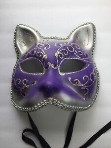 Masquerade Mardi Gras Halloween Costume Cat Mask