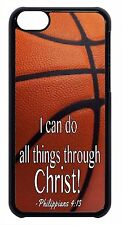 For Apple iPod 4 5 6 NBA Basketball Theme Bible Verse Black/White Case Cover