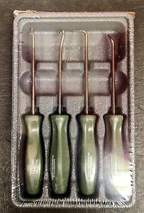 New Snap On Army Green 4 Pc Hard Grip Handle Pick Set USA (ASA204BCG)