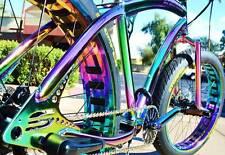 Fat Tire Beach Cruiser Bike - SOUL STOMPER - OIL SLICK CHROME 3 speed - NEW!!