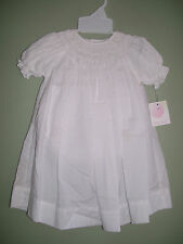 NWT Petit Ami 5709 White Smocked Dress Daygown Size 6 M Months NEW
