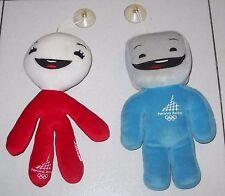 2 Mascotte NEVE e GLIZ Peluche Torino 2006 XX Olimpiadi Olympic Winter Mascot