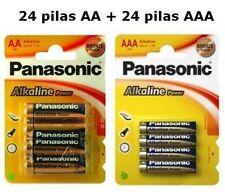 PILAS ALCALINAS 48 PANASONIC 24 AA LR06 Y 24AAA LR03 BATERIAS PILA ALCALINA KIT