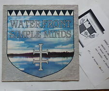 "MAXI 12"" SIMPLE MINDS Water Front 601064 avec l insert ""nouvel album"""