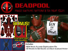 NEW Deadpool Movie Costume DIGITAL Pattern for Cosplay or Halloween + BONUS 3D