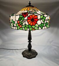 ANTIQUE Arts & Crafts CHICAGO MOSAIC CO. Leaded Slag Glass Table Lamp C.1910