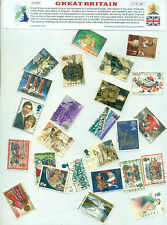 Great Britain 25 Different Large - STAMP PACKET