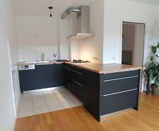 Premium Küche: Alno, Alnopure Schwarz Supermatt, inkl. Siemens iQ300 Serie