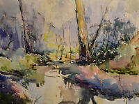 Contemporary Art/ Original Painting by American Artist Rukie Jackson /Landscape