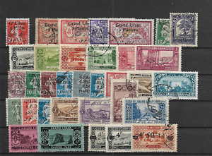 LEBANON   - NICE LOT USED Unchecked @125