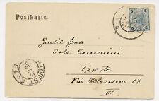 Austria 1903 Picture Postcard Cover Statue Monument #73 to Trieste