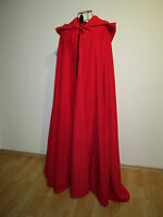 Rotkäppchen warmer Umhang mit spitzer Kapuze rot Cape Fasching Karneval Kostüm
