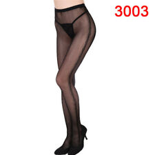 Women Black Lace Fishnet Hollow Patterned Pantyhose Tights Stocking Lingerie H&T