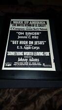 Plantation Records Wake Up America Rare Original Promo Poster Ad Framed!