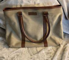 Gucci Authentic Bucket Bag Vintage Canvas Leather Trim Shoulder Bag COA Included