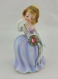 Lefton Miss October Birthday Beauty Pageant Figurine