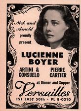 1951 AD LUCIENNE BOYER VERSAILLES CONSUELO CARTIER
