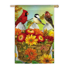 "Apples Acorns Birds Autumn Fall Harvest Evergreen Large Banner Flag 29""x43"""