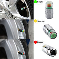 4 x Car Tyre Valve Caps Wheel Pressure 30-32-36 PSI Tire Air Sensor Dust Monitor