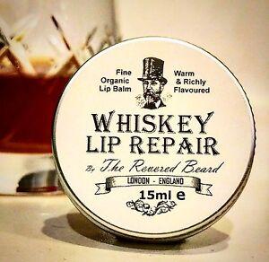 Whiskey Lip Balm, Men's Lip Repair by Revered Beard. Great Letterbox Gift!