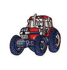 Traktor Trecker rot mittelgroß - Aufnäher Aufbügler Patch Applikation OVP #9465