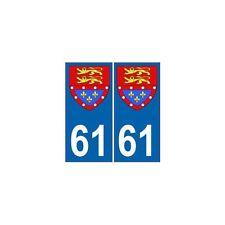 61 Orne autocollant plaque blason armoiries stickers département normandie arron
