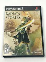 Radiata Stories for PlayStation 2 PS2 / No Manual / Tested