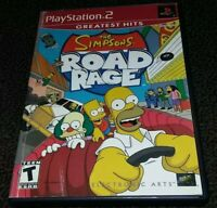 Simpsons Road Rage (Sony PlayStation 2, 2001) Complete Tested Working PS2 Game