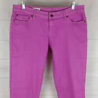 GAP 1969 womens size 10 x L28 stretch solid lilac mid rise always skinny jeans