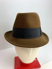 Haband Morfelt Camel Brown Wool Mens Trilby Hat 7 1/8