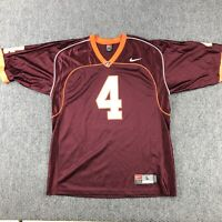 NCAA Men's Nike #4 Maroon Virginia Tech Hokies Football Jersey-Size Large