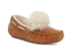 UGG Dakota Genuine Shearling Pompom Slippers $120 MSRP size 7