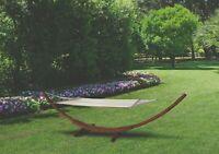 Amaca Da Giardino Con Supporto Legno Di Larice 310x120 Cm Tindari Junior