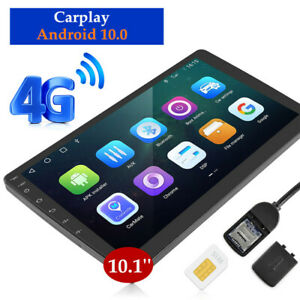 HD Touch 10.1-inch 8 Cores Android 10.0 Car Player Carplay DSP 4+64GB WiFi 4G