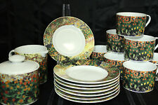 VINCENT VAN GOGH WILDFLOWERS & FIELD OF POPPIES Dishes COFFEE SET OF 18 Rare