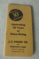 Vintage 1932 Booklet Notebook JC Penny Co Department Store 30th Anniversary
