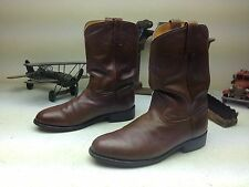 VINTAGE MADE IN USA CUSTOM BROWN ENGINEER WESTERN LEATHER BOSS BOOTS 11 EE