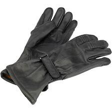Biltwell Black Gauntlet Leather Gloves - Medium Harley Chopper Motorcycle Riding