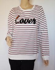 Vero Moda Damen Sweater Mod. CABERNETgestreift weiß Pailetten Gr.M Neu