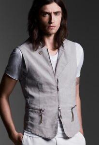 John Varvatos Collection Multicolor Vintage Striped Vest. Size EU 52 USA 42