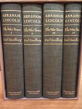 ABRAHAM LINCOLN: The War Years - 4 Vols. by Carl Sandburg - 1st Ed. - Slipcase