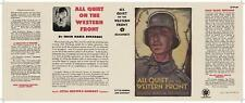 Facsimile Dust Jacket ONLY Erich Maria Remarque All Quiet on the Western Front