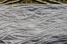 Opaque  White 11/0 Glass Seed Beads/Hank