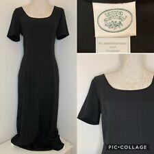 LAURA ASHLEY Vintage Black Maxi Dress Formal Occasion Size 10